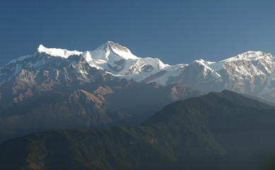 Annapurna Mountain range.