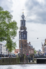 The Munttoren tower in Amsterdam, Netherlands.