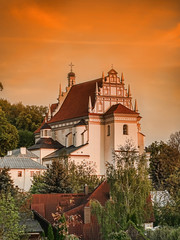 Kazimierz Parish Church Fara at sunset