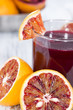 Glass with Blood Orange Juice