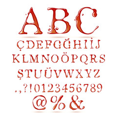Ketchup alphabet upper case