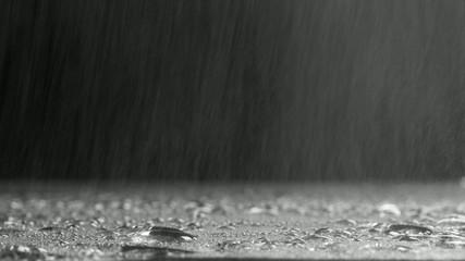 асфальт  под  дождём