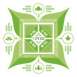 Infographic Business Concept of nature or ecology system.