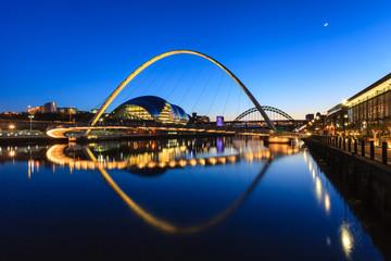 Gateshead Moonlit Evening