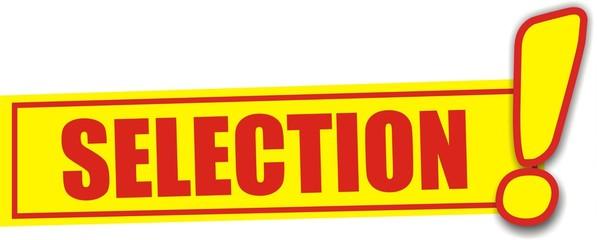 étiquette sélection