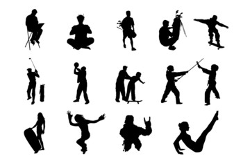 People Vector Silhouette - 06