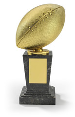 US football trophy