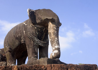 Elephant statue in a temple