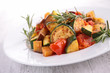 ratatouille, fried vegetables