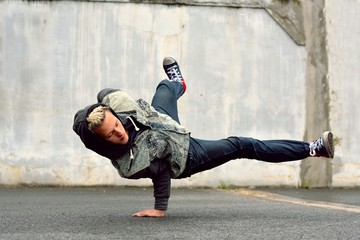 Breakdancer on the street