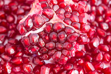 Pomegranate seeds close-up