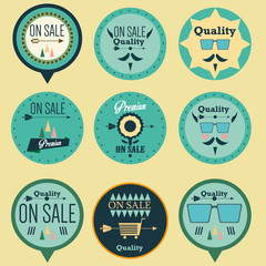 Set of hipster vintage retro labels