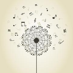 Music a dandelion