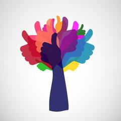 thumb up tree