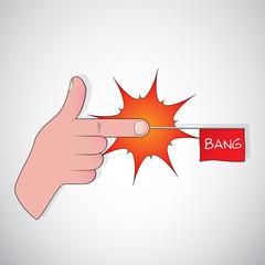 finger gun - bang