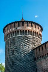 Castello Sforzesco, bastione e cinta muraria, Milano