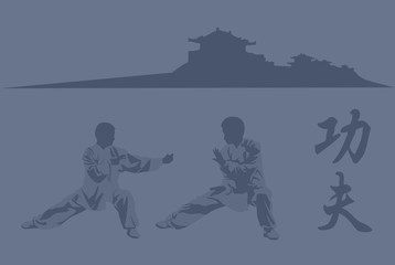 Fighting  art of kung fu