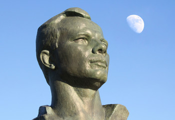 Monument to Yuri Gagarin in the Alley of Cosmonauts, Moscow, Rus
