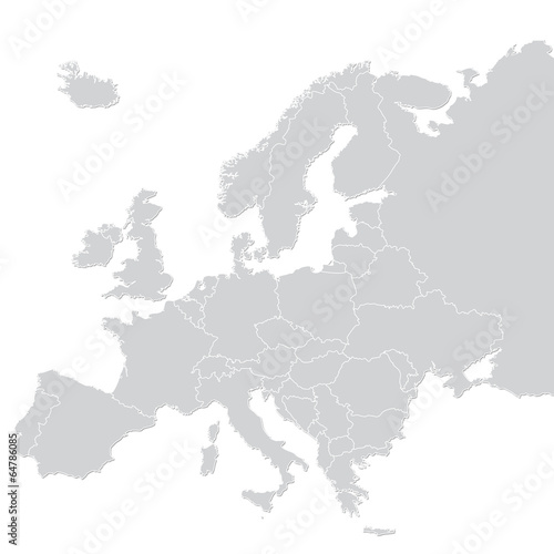 canvas print picture Europe map