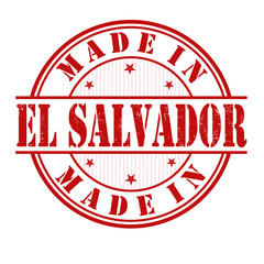 Made in El Salvador stamp