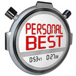 Personal Best Stopwatch Timer Race Record Speed Win Game