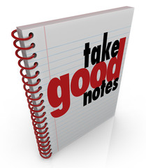 Take Good Notes Class Lecture Write Important Facts School Learn