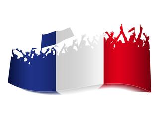 2014 Gruppen Schild - Frankreich