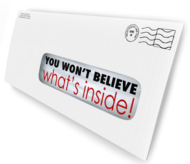 Envelope Special Delivery You Wont Believe Whats Inside