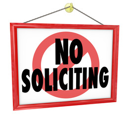 No Soliciting Sign Prohibit Unwanted Uninvited Salespeople Selli