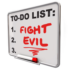 Fight Evil Words To Do List Protect Secure Improve Safety