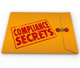 Compliance Secrets Advice Following Rules Yellow Envelope