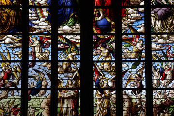 Angels of the Apocalypse in stained glass