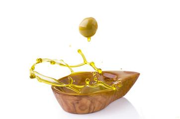 olio d'oliva splash