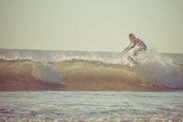 Surfing in the morning