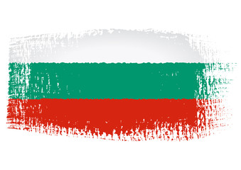 brushstroke flag Bulgaria