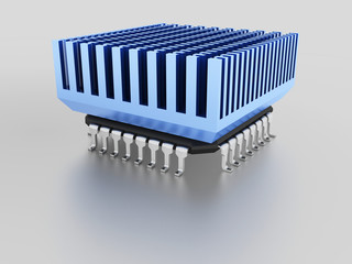 micro chip with heat sink