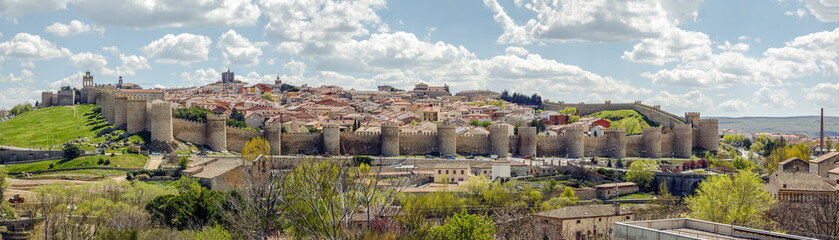 Panorama of the City of Avila, Spain