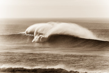 Wave Sepia Contrasts Crashing Water