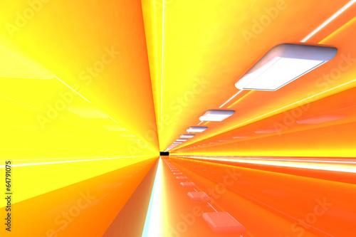 Leinwanddruck Bild - Spectral-Design : Tunnel