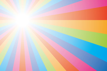Fondo de pantalla de colores del arco iris (radial)
