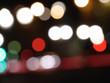 canvas print picture - city lights