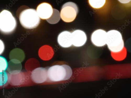 canvas print picture city lights