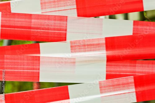 Absperrband - Flatterband - Warnband - Hintergrund