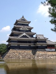 横から松本城