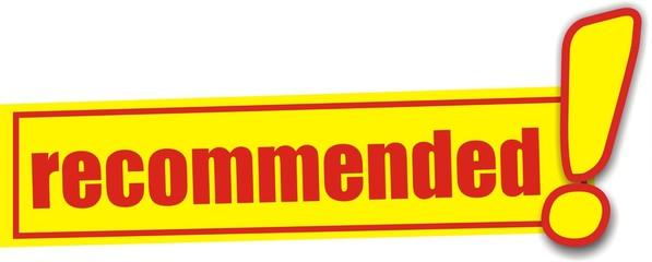 étiquette recommended