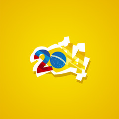 Colombia in Brazil 2014 vector