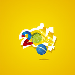 Colombia in Brazil 2014 start the game