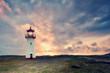 Leinwanddruck Bild - Lichtstimmung am Leuchtturm