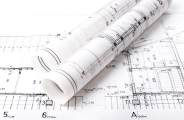 Architect project drawing blueprint