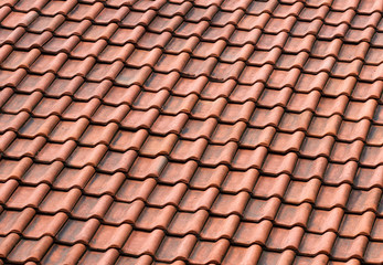 Red tile roof, seamless background
